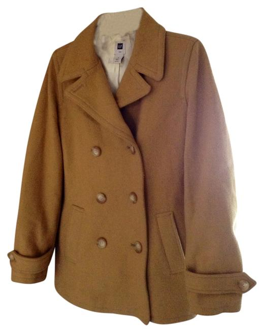 Item - Camel Brown Wool By The Medium Coat Size 8 (M)