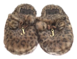 Juicy Couture Camel Brown Mules