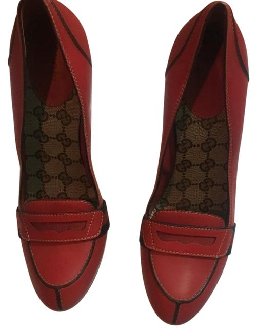Item - Red Pumps Size US 9.5 Narrow (Aa, N)