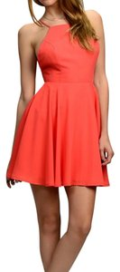 Boho Chic short dress Coral on Tradesy