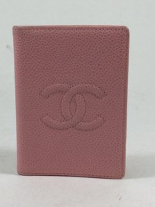 Chanel Pink Leather Bifold Card Holder