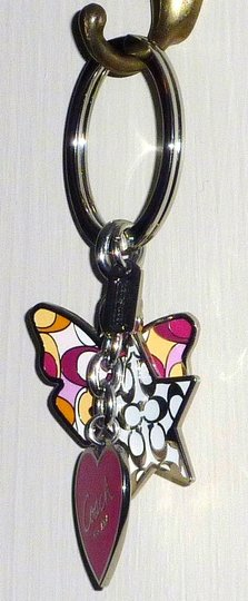 Coach Authentic New Coach Butterfly Heart Star Multi Mix Charm Fob Key Ring