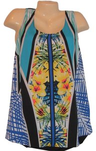 Apt. 9 Plus Size Floral Top Blue