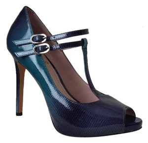 Vince Camuto Patent Leather Stiletto Hidden Aqua Platforms