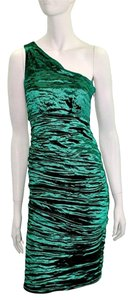 Nicole Miller One Shoulder Metallic Dress