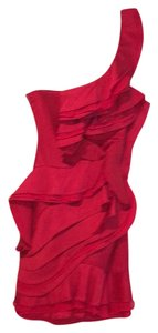 BCBG Paris short dress Red on Tradesy