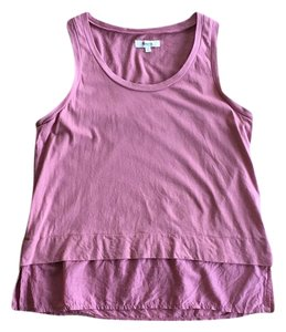 Madewell Silk Blend Layered Cropped Top Dusty Rose Pink