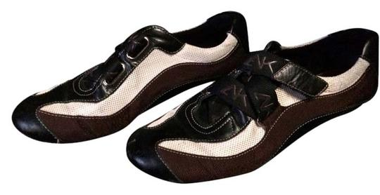 Anne Klein Black, Brown And White Flats