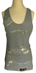 Alice + Olivia Tank Silver Chain Night Out Date Night Tunic