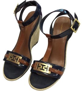 Tommy Hilfiger Brown, navy Wedges