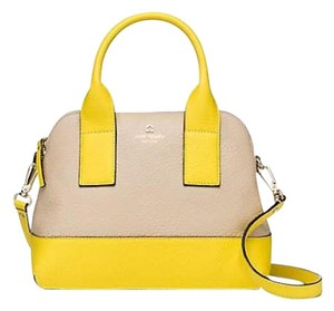 Kate Spade Satchel in Sand and Lemon