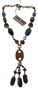 Stephen Yearick STEPHEN DWECK BLUE AGATE/SMOKY QUARTZ Y DROP NECKLACE