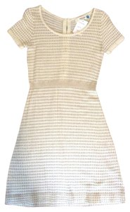 Sparrow/Anthropologie short dress Ivory/Gold on Tradesy