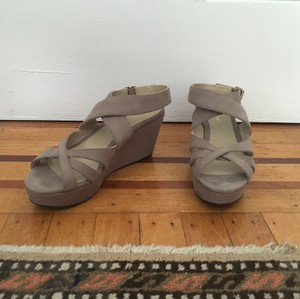 Delman Taupe Wedges