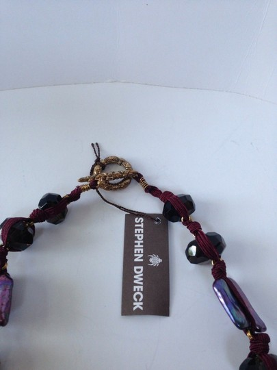 Stephen Yearick STEPHEN DWECK PURPLE KNOTTED MULTI STONE NECKLACE
