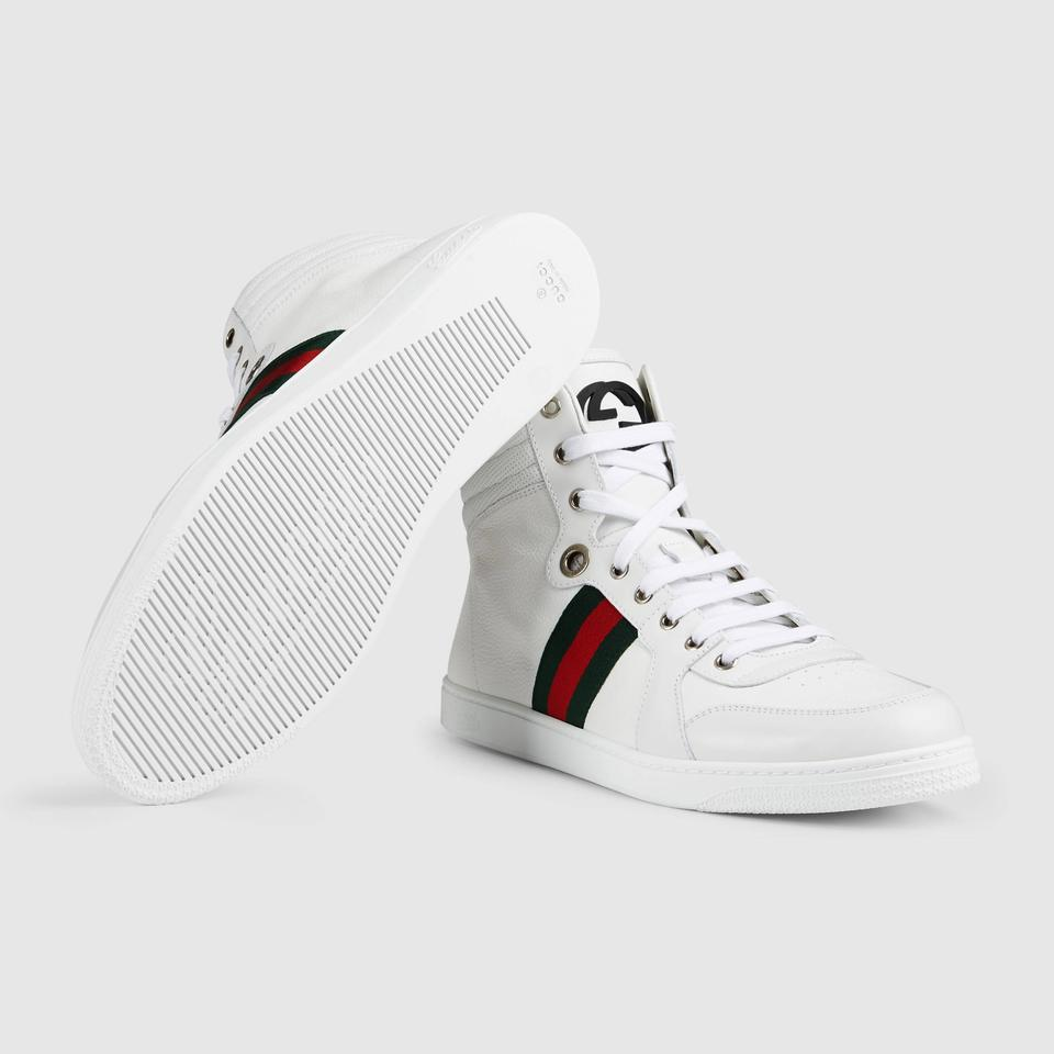 57a23c93f87 Gucci White Coda High Top Sneaker 38.5 Retail with Box Recent Style ...