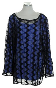 Bob Mackie Long Sleeve Sequin Lace Tunic
