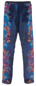 BCBGMAXAZRIA Trouser Pants Blue Pink Yellow Multi