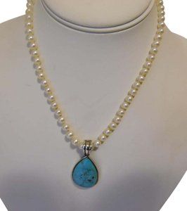 Honora Turquoise Pearl-Shape Enhancer and Honora Pearl Necklace