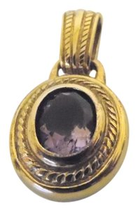 Veronese Collection Veronese Collection 18K Clad Over .925 Sterling Silver Amethyst Omega Slide