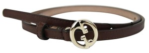 Gucci NEW Auth GUCCI Womens Leather Thin Skinny Belt w/Interlocking G Buckle 90/36 362731 2504