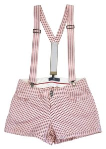 Alexander McQueen Candy Striped Cotton Shorts