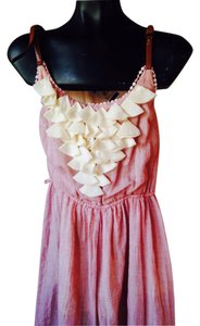 Windsor Fax Leath Straps Light Pink Dress