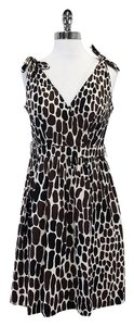 Trina Turk short dress Black Brown Giraffe Print on Tradesy
