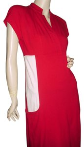 Diane von Furstenberg short dress red beige on Tradesy