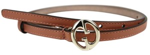 Gucci NEW Auth GUCCI Womens Leather Thin Skinny Belt w/Interlocking G Buckle 90/36 362731 5718