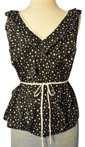Ivanka Trump Top Black and white polka dot