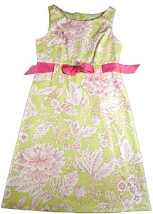 Eliza J short dress Lime and Raspberry on Tradesy