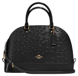 Coach Satchel in Gold/ Black