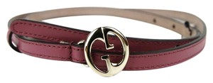 Gucci Leather Thin Skinny Belt w/Interlocking G Buckle 90/36 362731 6224