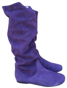 Steve Madden Slouchy Flat Suede Purple Boots