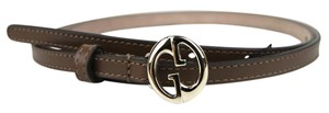 Gucci Leather Thin Skinny Belt w/Interlocking G Buckle 80/32 362731 2527