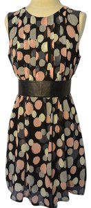 Voir Voir short dress Pink and grey polka dots on Tradesy