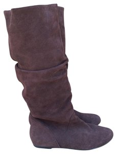 Steve Madden Leather Slouchy Flat Brown Boots