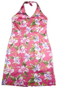 Jones New York short dress Fuschia Yellow Green on Tradesy