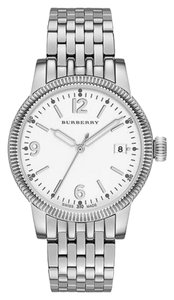 Burberry Burberry Unisex The Utilitarian White Dial Stainless Steel 38mm
