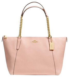 Coach Tote in Gold/ Peach Rose