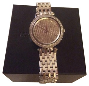MICHAEL Michael Kors Darci Crystal Pave Stainless Steel Runway Watch