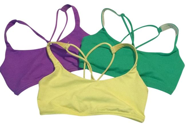 Item - Assorted; Purple Green Yellow Free To Be Activewear Sports Bra Size 6 (S, 28)