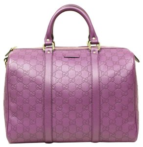 Gucci Plum Leather Satchel