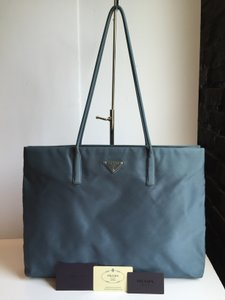 Prada Nylon Tote in Denim Blue