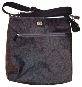 Emilie Sloan Black/Navy Messenger Bag