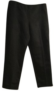 Talbots Silk Trouser Pants Black