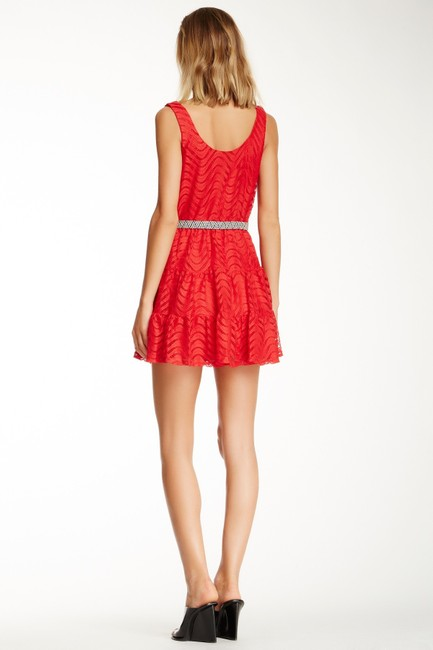 City Triangles short dress Red Summer Sleeveless Belted on Tradesy