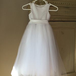 David's Bridal White Dress