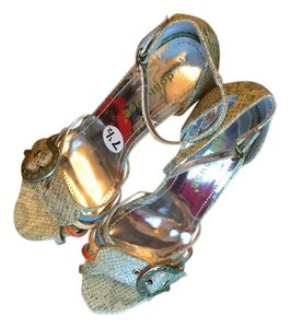 Dollhouse Green/multi Sandals